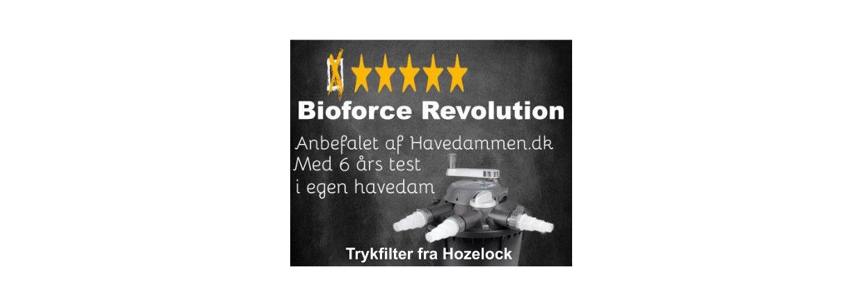 Test af Bioforce Revolution trykfilter til havedam